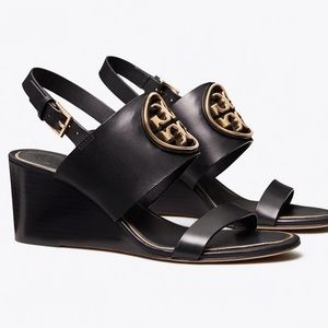 Tory Burch Leather Wedge Miller Sandal